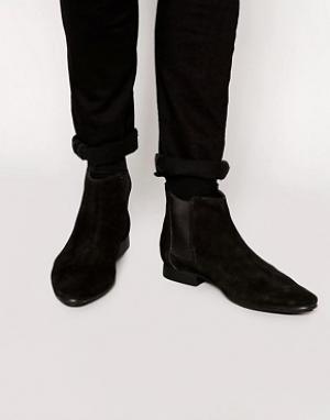 Frank Wright Замшевые ботинки челси. Цвет: черный