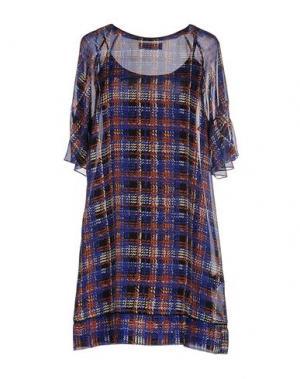 Короткое платье KRISTINA TI. Цвет: ярко-синий