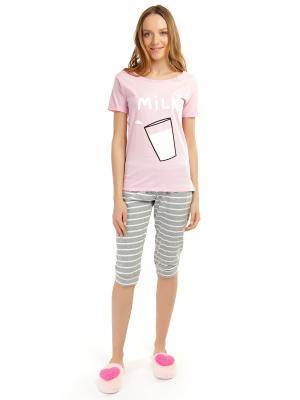 Пижама ТВОЕ. Цвет: розовый, серый