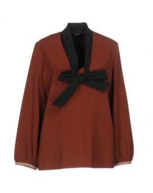 Блузка ALYSI. Цвет: коричневый