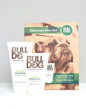 Bulldog Подарочный набор с двумя косметическими средствами Skincare. Цвет: мульти