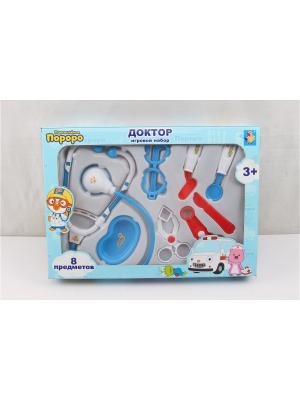 Игровой набор Пингвинёнок Пороро  доктора,8 предм. 1Toy. Цвет: прозрачный