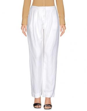 Повседневные брюки IVORIES. Цвет: белый