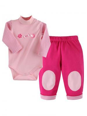 Комплект нательный для малыша Наша Мама. Цвет: малиновый, розовый