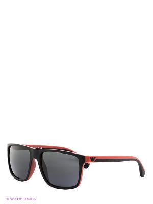 Очки солнцезащитные Emporio Armani. Цвет: черный, красный