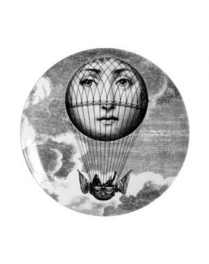 Декоративная тарелка FORNASETTI. Цвет: серый