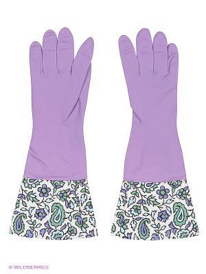 Перчатки латексные Magic Home. Цвет: фиолетовый