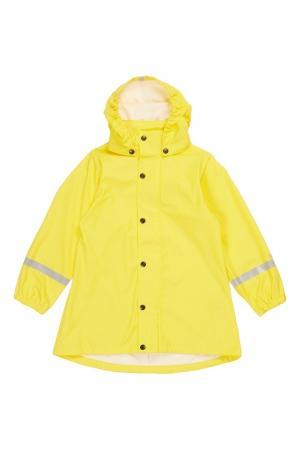Длинный желтый дождевик Reima. Цвет: желтый
