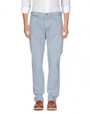 Повседневные брюки YES ZEE by ESSENZA. Цвет: небесно-голубой