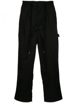 Прямые брюки monkey time. Цвет: чёрный