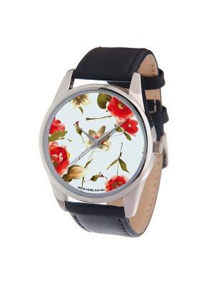 Часы Mitya Veselkov Акварель Арт. MV-189. Цвет: бледно-розовый, красный, темно-красный