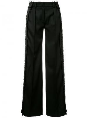Широкие прямые брюки Mugler. Цвет: чёрный