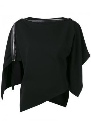 Блузка с плоской молнией Issey Miyake. Цвет: чёрный