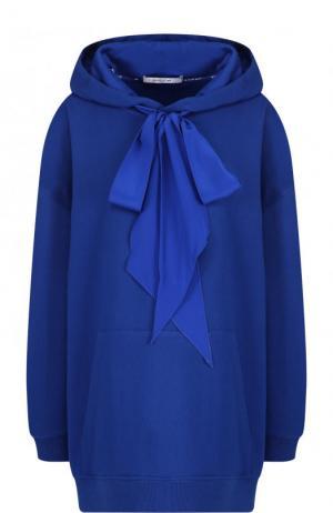 Хлопковая толстовка свободного кроя с капюшоном Givenchy. Цвет: синий