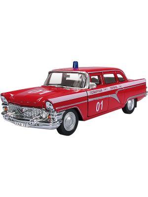 Машина ГАЗ-13 ЧАЙКА пожарная AUTOTIME. Цвет: красный