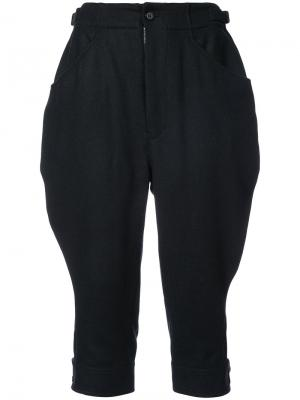 Укороченные брюки Jockey Yohji Yamamoto. Цвет: чёрный