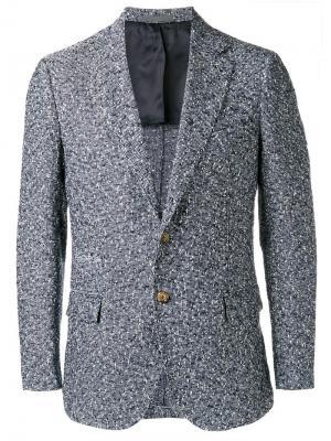 Блейзер с накладными карманами Eleventy. Цвет: синий
