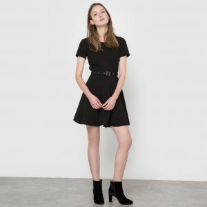 Платье с короткими рукавами, MOLLY BRACKEN. Цвет: черный