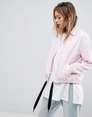 Cheap Monday Спортивная куртка. Цвет: розовый