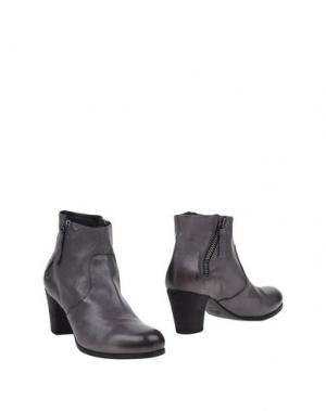 Полусапоги и высокие ботинки GAIA D'ESTE. Цвет: свинцово-серый