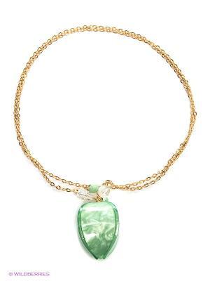 Ожерелье Модные истории. Цвет: зеленый, золотистый