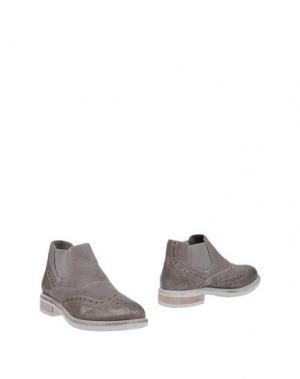 Полусапоги и высокие ботинки CAFÈNOIR. Цвет: голубиный серый