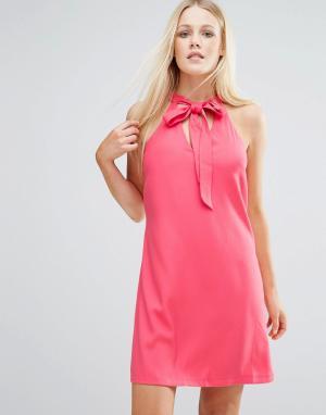 Girls on Film Платье-туника с вырезом капелькой. Цвет: оранжевый