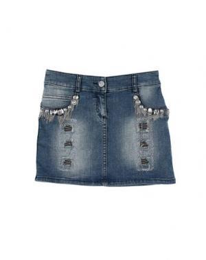 Джинсовая юбка MISS GRANT. Цвет: синий