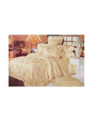 Комплект постельного белья 6 предметов HAMRAN. Цвет: золотистый