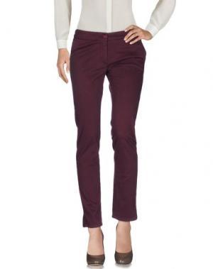 Повседневные брюки JOHNNY LAMBS. Цвет: баклажанный