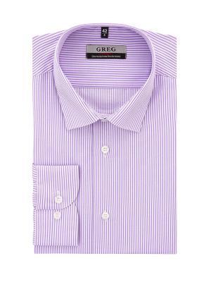 Рубашка GREG. Цвет: сиреневый, белый