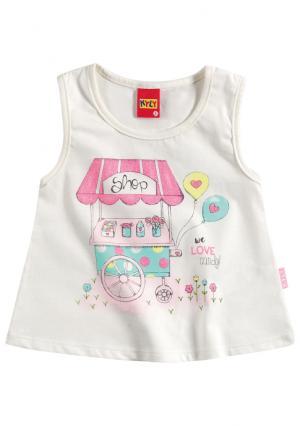 Комплект: майка + шорты KYLY. Цвет: белый (молочный/бирюзовый), розовый (розовый/синий)