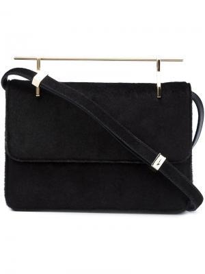Pony hair shoulder bag M2malletier. Цвет: зелёный