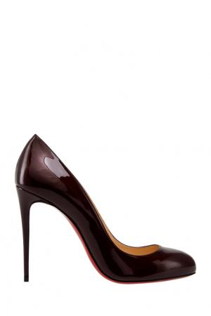 Туфли из лакированной кожи Dorissima 100 Christian Louboutin. Цвет: вишневый