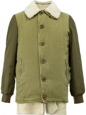 Куртка с подкладкой из овчины Giorgio Brato. Цвет: зелёный