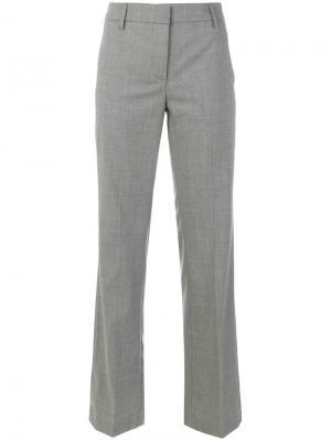 Прямые брюки Dondup. Цвет: серый