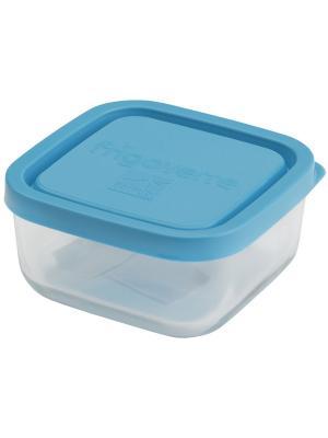 Контейнера стеклянные B387870-1  Bormioli Rocco Стеклянный контейнер Frigoverre квадратный 15*15 см,. Цвет: синий