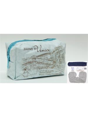 Набор в чехле из полиэстера  Путешествие Венецию Magic Home. Цвет: голубой