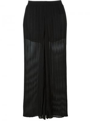 Широкие брюки Outsource Images. Цвет: чёрный