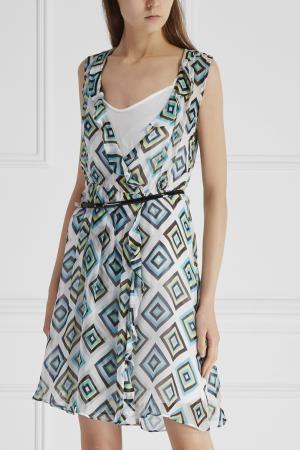 Платье с принтом Marella. Цвет: зеленый