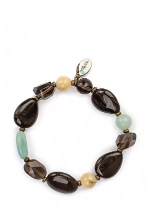 Браслет Nature bijoux. Цвет: коричневый