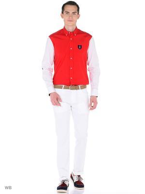 Рубашка Eden Park. Цвет: красный, белый