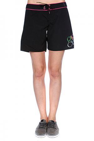 Шорты пляжные женские  Boardshort Solid Black Rip Curl. Цвет: черный