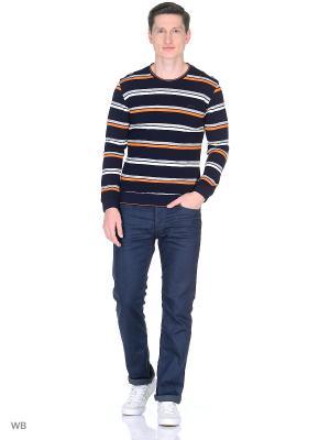 Джемпер Milton. Цвет: темно-синий, оранжевый