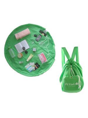 Сумка-рюкзак (коврик) для города, спорта, пляжа, природы PUTinGO SenSy. Цвет: салатовый
