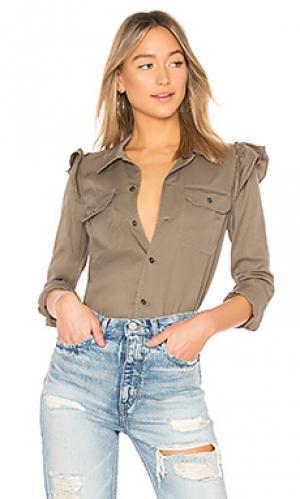 Рубашка Pam & Gela. Цвет: темно-зеленый