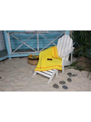 Полотенце пляжное WAFFLE СПА 90*160 цв. желтый TOALLA. Цвет: желтый