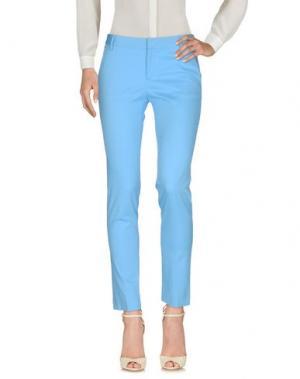 Повседневные брюки FABRIZIO LENZI. Цвет: небесно-голубой