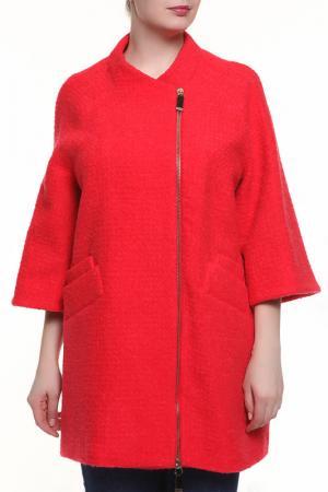 Пальто Maria Grazia Severi. Цвет: красный