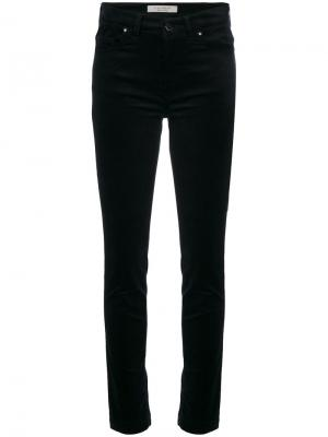 Облегающие бархатные брюки D.Exterior. Цвет: синий